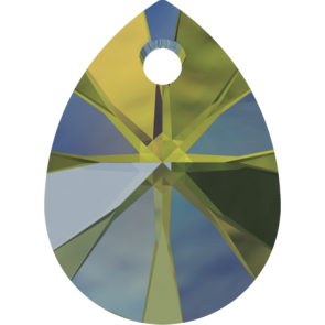 Pandantiv Swarovski 6128 XILION MINI PEAR PENDANT Crystal Iridescent Green (001 IRIG) 8 mm