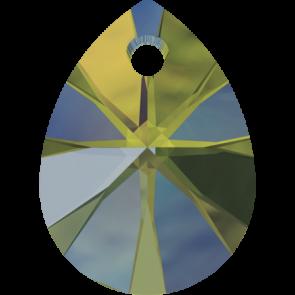 Pandantiv Swarovski 6128 XILION MINI PEAR PENDANT Crystal Iridescent Green (001 IRIG) 10 mm