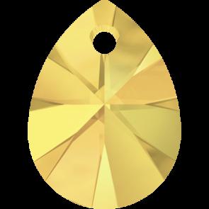 Pandantiv Swarovski 6128 XILION MINI PEAR PENDANT Crystal Metallic Sunshine (001 METSH) 8 mm