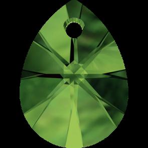 Pandantiv Swarovski 6128 XILION MINI PEAR PENDANT Dark Moss Green (260) 10 mm