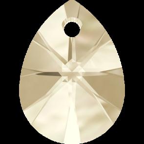 Pandantiv Swarovski 6128 XILION MINI PEAR PENDANT Light Silk (261) 8 mm