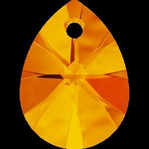 Pandantiv Swarovski 6128 XILION MINI PEAR PENDANT Tangerine (259) 8 mm