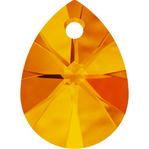 Pandantiv Swarovski 6128 XILION MINI PEAR PENDANT Tangerine (259) 10 mm