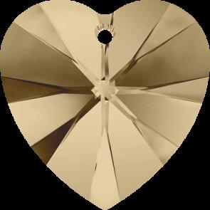 Pandantiv Swarovski 6228 XILION HEART PENDANT Crystal Golden Shadow (001 GSHA) 10,3 x 10 mm