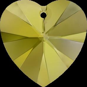 Pandantiv Swarovski 6228 XILION HEART PENDANT Crystal Iridescent Green (001 IRIG) 10,3 x 10 mm