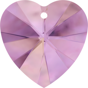 Pandantiv Swarovski 6228 XILION HEART PENDANT Crystal Lilac Shadow (001 LISH) 28 mm