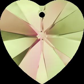 Pandantiv Swarovski 6228 XILION HEART PENDANT Crystal Luminous Green (001 LUMG) 10,3 x 10 mm