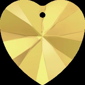 Pandantiv Swarovski 6228 XILION HEART PENDANT Crystal Metallic Sunshine (001 METSH) 10,3 x 10 mm