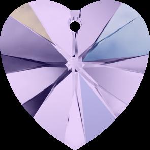 Pandantiv Swarovski 6228 XILION HEART PENDANT Violet AB (371 AB) 10,3 x 10 mm