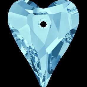 Pandantiv Swarovski 6240 WILD HEART PENDANT Aquamarine (202) 12 mm