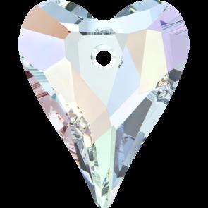 Pandantiv Swarovski 6240 WILD HEART PENDANT Crystal AB (001 AB) 12 mm
