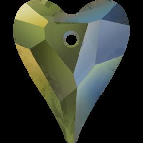 Pandantiv Swarovski 6240 WILD HEART PENDANT Crystal Iridescent Green (001 IRIG) 12 mm