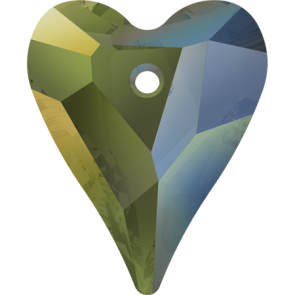 Pandantiv Swarovski 6240 WILD HEART PENDANT Crystal Iridescent Green (001 IRIG) 17 mm