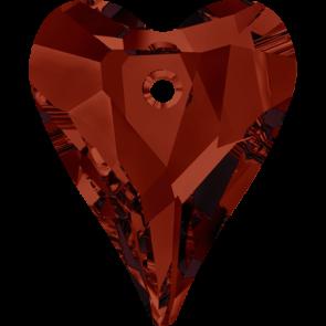 Pandantiv Swarovski 6240 WILD HEART PENDANT Crystal Red Magma (001 REDM) 12 mm