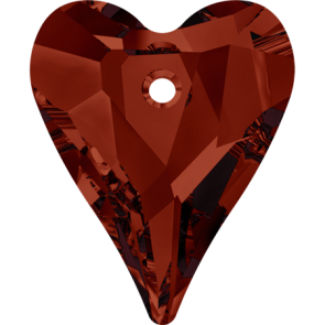 Pandantiv Swarovski 6240 WILD HEART PENDANT Crystal Red Magma (001 REDM) 17 mm
