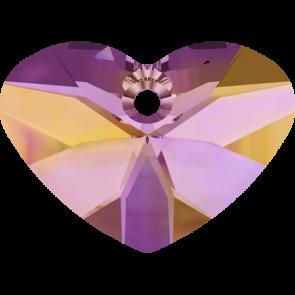 Pandantiv Swarovski 6260 CRAZY 4 U HEART Crystal Astral Pink (001 API) 27 mm