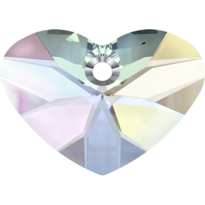 Pandantiv Swarovski 6260 CRAZY 4 U HEART Crystal AB (001 AB) 27 mm