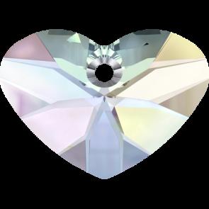 Pandantiv Swarovski 6260 CRAZY 4 U HEART Crystal AB (001 AB) 37 mm