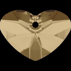 Pandantiv Swarovski 6260 CRAZY 4 U HEART Crystal Golden Shadow (001 GSHA) 27 mm