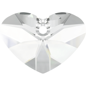 Pandantiv Swarovski 6260 CRAZY 4 U HEART Crystal (001) 27 mm
