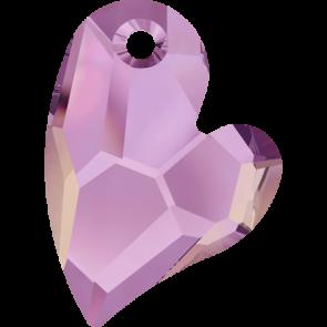 Pandantiv Swarovski 6261 DEVOTED 2 U HEART Crystal Lilac Shadow (001 LISH) 27 mm