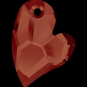 Pandantiv Swarovski 6261 DEVOTED 2 U HEART Crystal Red Magma (001 REDM) 17 mm