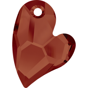 Pandantiv Swarovski 6261 DEVOTED 2 U HEART Crystal Red Magma (001 REDM) 27 mm
