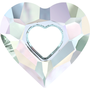 Pandantiv Swarovski 6262 MISS U HEART Crystal AB (001 AB) 26 mm