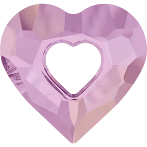 Pandantiv Swarovski 6262 MISS U HEART Crystal Lilac Shadow (001 LISH) 26 mm