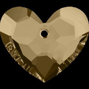 Pandantiv Swarovski 6264 TRULY IN LOVE HEART Crystal Golden Shadow (001 GSHA) 18 mm