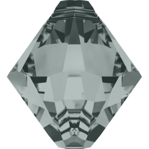 Pandantiv Swarovski 6328 XILION BICONE PENDANT Black Diamond (215) 6 mm