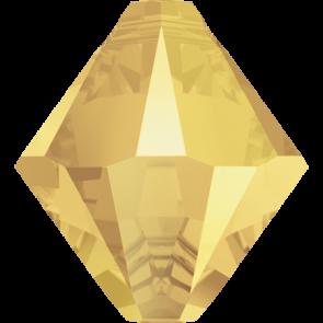 Pandantiv Swarovski 6328 XILION BICONE PENDANT Crystal Metallic Sunshine (001 METSH) 6 mm