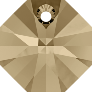 Pandantiv Swarovski 6401 OCTAGON PENDANT Crystal Golden Shadow (001 GSHA) 8 mm