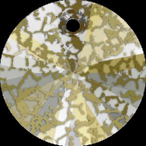 Pandantiv Swarovski 6428 XILION PENDANT Crystal Gold Patina (001 GOLPA 6 mm
