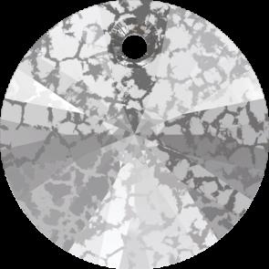 Pandantiv Swarovski 6428 XILION PENDANT Crystal Silver Patina (001 SILPA) 6 mm