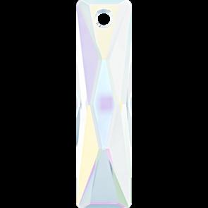 Pandantiv Swarovski 6465 QUEEN BAGUETTE PENDANT Crystal AB (001 AB) 25x7 mm - Bagheta