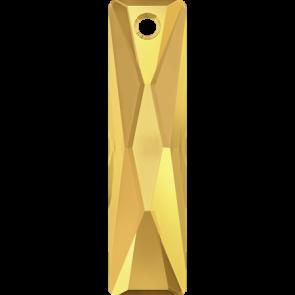 Pandantiv Swarovski 6465 QUEEN BAGUETTE PENDANT Crystal Metallic Sunshine (001 METSH) 25x7 mm