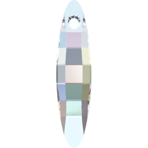 Pandantiv Swarovski 6470 ELLIPSE PENDANT Crystal AB (001 AB) 40 mm