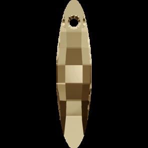 Pandantiv Swarovski 6470 ELLIPSE PENDANT Crystal Golden Shadow (001 GSHA) 32 mm
