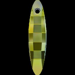 Pandantiv Swarovski 6470 ELLIPSE PENDANT Crystal Iridescent Green (001 IRIG) 40 mm