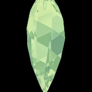 Pandantiv Swarovski 6540 TWISTED DROP PENDANT Chrysolite Opal (294) 12 mm