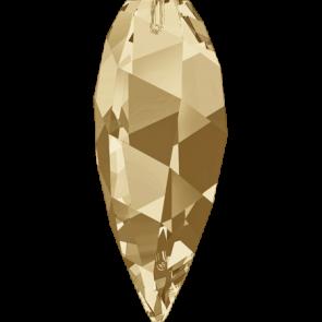 Pandantiv Swarovski 6540 TWISTED DROP PENDANT Crystal Golden Shadow (001 GSHA) 12 mm