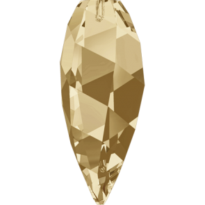 Pandantiv Swarovski 6540 TWISTED DROP PENDANT Crystal Golden Shadow (001 GSHA) 20 mm