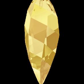 Pandantiv Swarovski 6540 TWISTED DROP PENDANT Crystal Metallic Sunshine (001 METSH) 12 mm