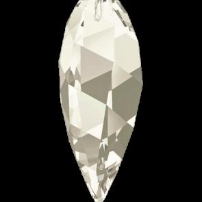 Pandantiv Swarovski 6540 TWISTED DROP PENDANT Crystal Silver Shade (001 SSHA) 20 mm