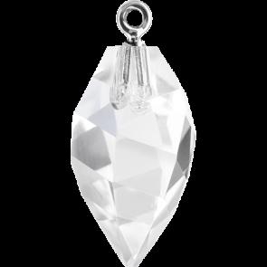 Pandantiv Swarovski 6541 TWISTED DROP PEND. CL.CAP Crystal GOLD (001) 14,5 mm