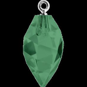 Pandantiv Swarovski 6541 TWISTED DROP PEND. CL.CAP Emerald ROGL (205) 14,5 mm