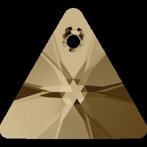 Pandantiv Swarovski 6628 XILION TRIANGLE PENDANT Crystal Golden Shadow (001 GSHA) 12 mm