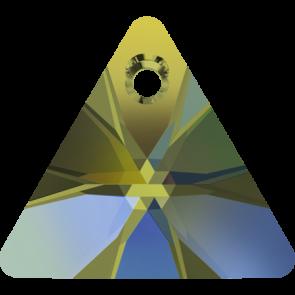 Pandantiv Swarovski 6628 XILION TRIANGLE PENDANT Crystal Iridescent Green (001 IRIG) 8 mm