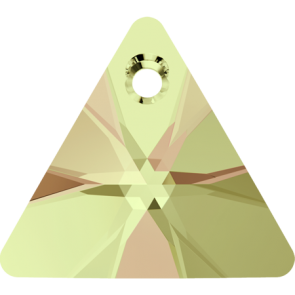 Pandantiv Swarovski 6628 XILION TRIANGLE PENDANT Crystal Luminous Green (001 LUMG) 12 mm